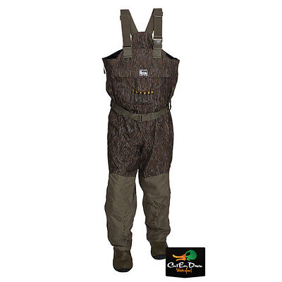 NEW BANDED REDZONE BREATHABLE UNINSULATED CHEST WADERS BOTTOMLAND CAMO 10 STOUT