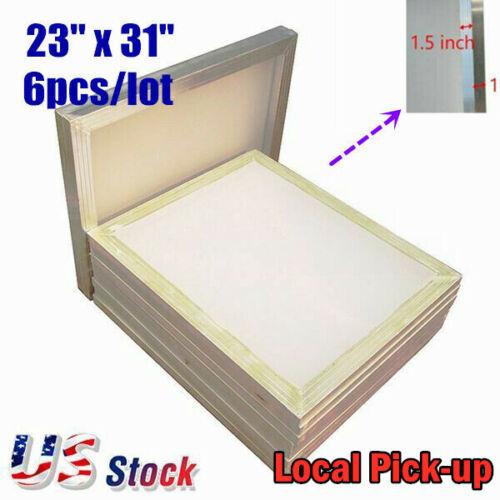 """US Stock! 6Pack 23"""" x 31"""" Aluminum Frame Silk Screen Printing Screens 160 Mesh"""