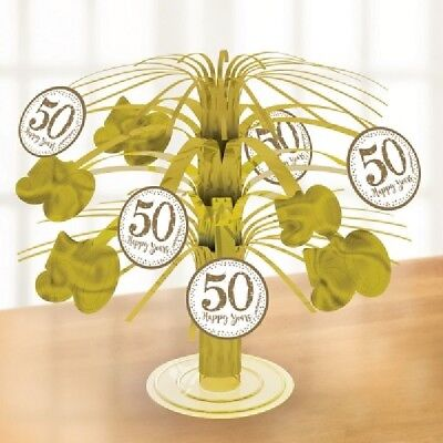 50th Wedding Anniversary Table Centerpieces (** 19cm GOLDEN ANNIVERSARY TABLE CENTERPIECE 50th 50 YEARS PARTY NEW)
