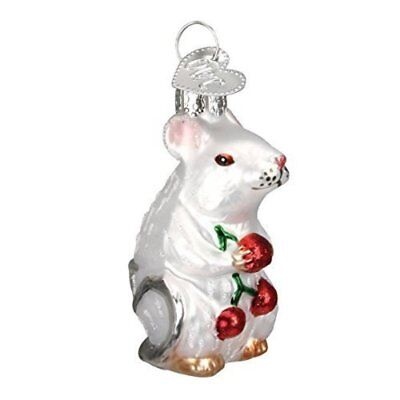 Old World Christmas Mouse Glass Blown Ornament