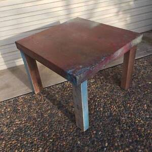 Rustic Copper & Hardwood Side Table Menai Sutherland Area Preview