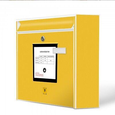 Burg-Wächter Wandbriefkasten MAIL Postkasten mit Motiv Briefkasten Gelb Postbox online kaufen