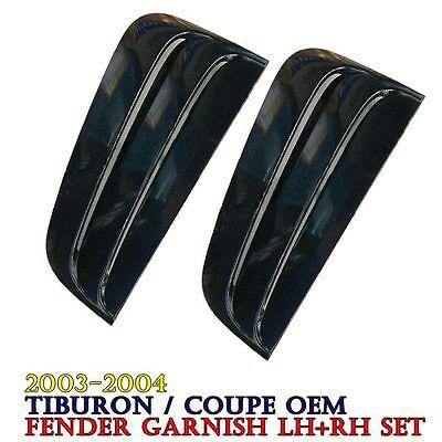 OEM Fender Air Scoop Intake Unpainted Duct TypeC Set For HYUNDAI 2007-08 Tiburon
