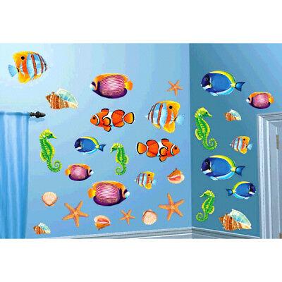 SEA LIFE CUTOUTS Wall Decorations Party Room Luau Ocean Fish Shells Seahorse - Fish Cutouts