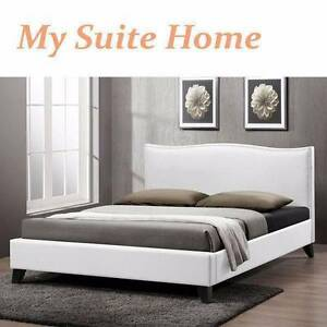 Mel Alice Brand New White PU Leather Double/Queen size bed Melbourne CBD Melbourne City Preview