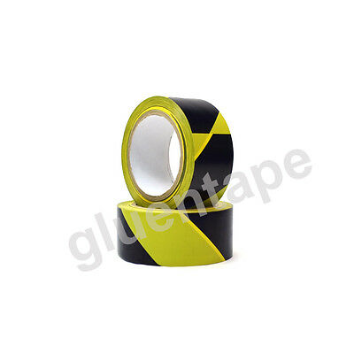 Vinyl Floor Safety Marking Tape 2 X 36 Yd 5mil Pvc Blackyellow 1 Roll
