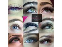 Eyelash extensions,cnd shellac , lvl lash lift