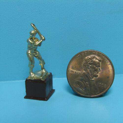 Dollhouse Miniature Gold Tone Baseball Softball Trophy IS2441-1