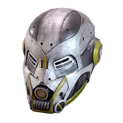 High-Tech Duty Robot Adult Latex Mask Steampunk Cosplay Cyborg Sci Fi - Robot Mask
