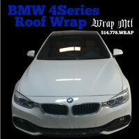 Roof/Hood Gloss Black Wrap 160$ Special* Full Wrap 1400$