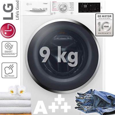 LG 9kg XL WASCHMASCHINE WASCHVOLLAUTOMAT A+++ SPA STEAM FRONTLADER DISPLAY 1400U
