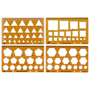 Helix  Shape Template Pack.Triangle, Square Pentagon, Hexagon.Ref H60