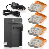 Canon Rebel T2i T3i T4i T5i X5 x4pcs Battery LP-E8+1Chager+C/A