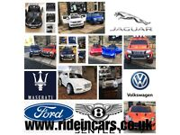 Audi,Bentley,Jaquar,Mercedes,Ford,VW,Largest Selection Of Kids Offical 12vRide-On Cars