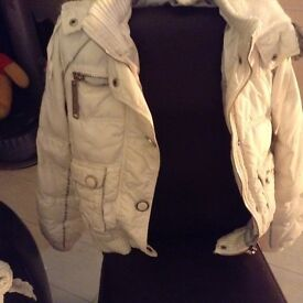 Winter White Coat Size 16 By River Island
