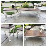 Rustic shabby chic coffee & end table