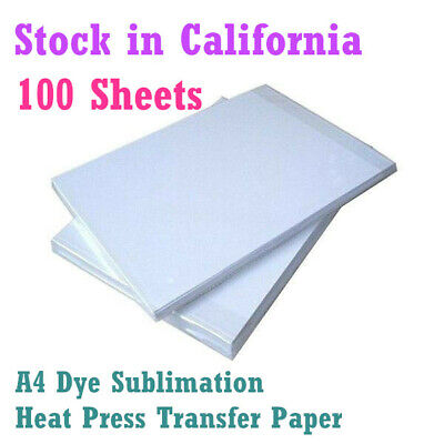 100sheets 8.3x11.7 Dye Sublimation Heat Press Transfer Paper For Heat Printing