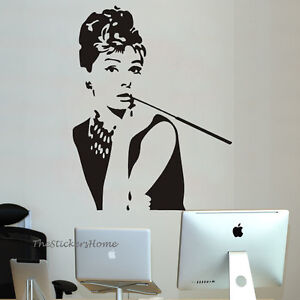 9070 audrey hepburn wall art decal vinyl wallpaper home