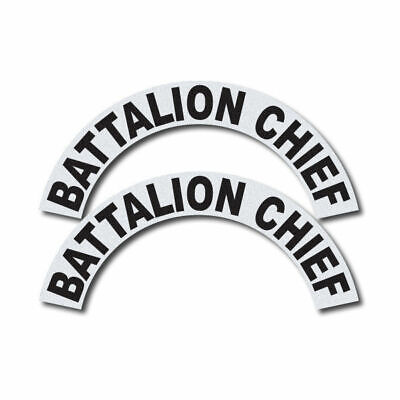 3m Reflective Firerescueems Helmet Crescents Decal Set - Battalion Chief