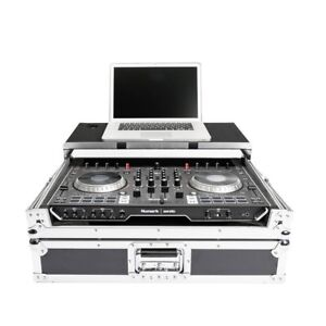 Magma DJ Controller Workstation Flight Case for Numark NS6II DJ Controller