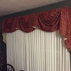 2 sets of window toppers with rods n hardware