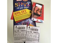 Alton towers tickets X 2