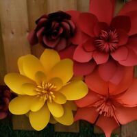Paper flower for wedding decorations