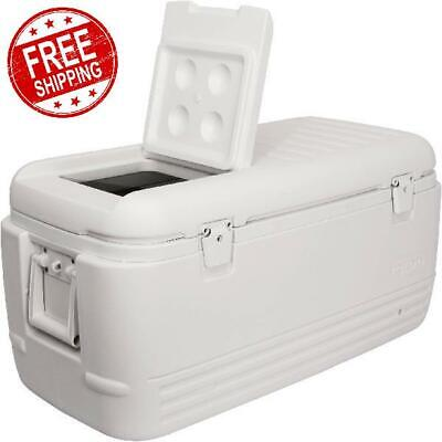 Igloo Large Ice Chest Insulated Cooler Drain Valve 100 Qt Cold Marine Fishing