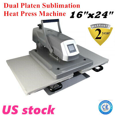 Us 16x24 Dual Platen Sublimation T-shirt Heat Press Machine Transfer Machine