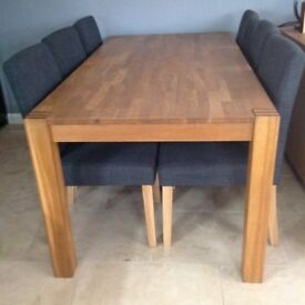 Solid oak table ( no chairs )