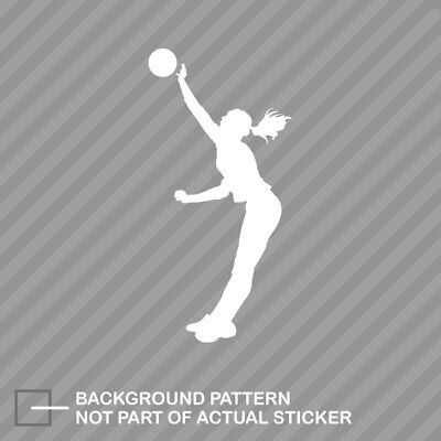 (Womens Volleyball Sticker Decal Vinyl Girl Spike Silouette)