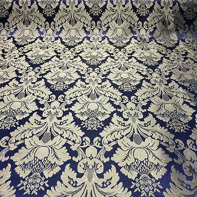 Damask Jacquard Brocade Flower Floral Fabric 118