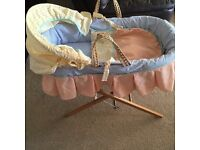 John Lewis Moses basket complete with bedding