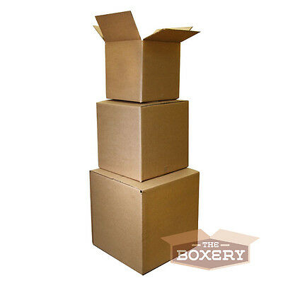 100 8x8x8 Corrugated Shipping Boxes - 100 Boxes