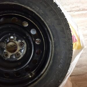 """15"""" Winter Tires with Steel Rims"""