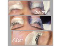 Eyelash extensions/lash lift and tint £25