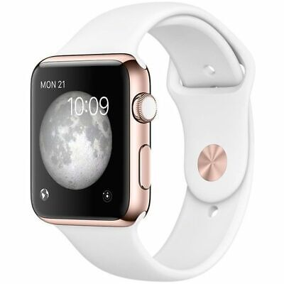 Apple Watch Series 2 38mm Rose Gold Aluminium Case - White Band