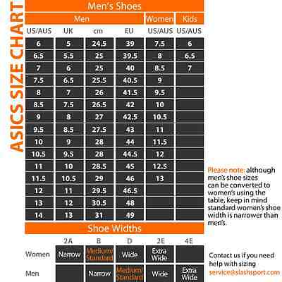 Asics Running Shoes Width Guide