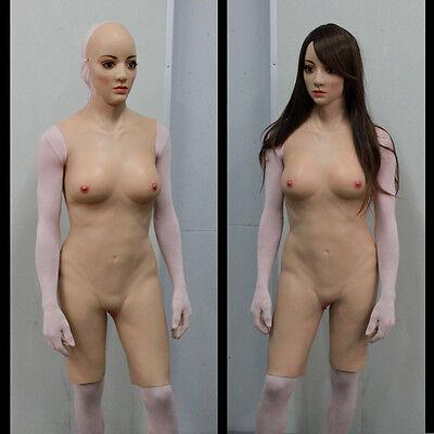 TRANSKIN Cyberskin Fullbody Suit One-piece Tigh Zentai CD TD