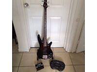 Bass guitar and bass pod