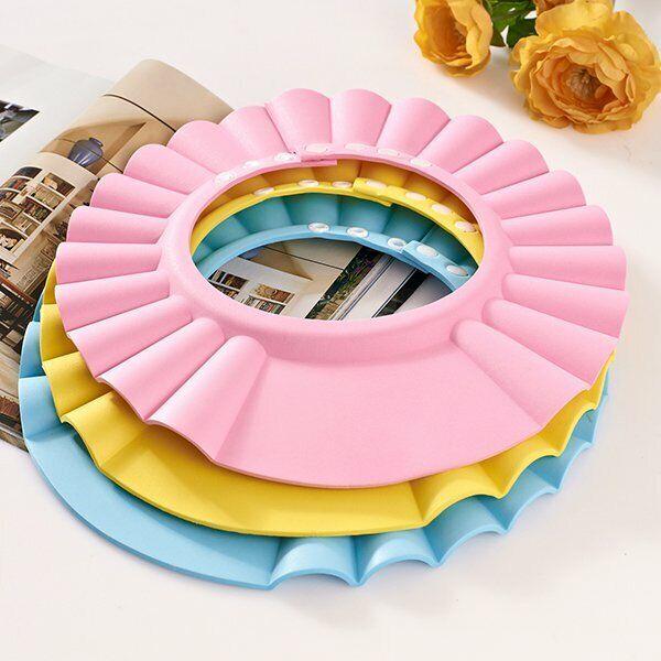 Baby Toddler Bath Shower Shampoo Cap Hat Wash Hair Shield Visor Adjustable