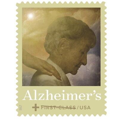 USPS New Alzheimer's Semipostal pane of 20