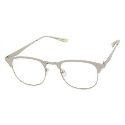 Men's Vintage 50's Retro Style Clear Lens Eye Glasses Silver Metal Fashion (50s Sunglasses Men)