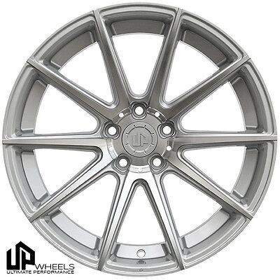 "19"" ULTIMATE PERFORMANCE UP100 SILVER MACHINED FACE CONCAVE WHEELS RIMS FITS JDM"
