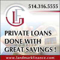 PRIVATE LOANS DONE WITH GREAT SAVINGS!