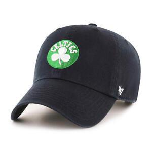 9fbb9d93d3b Boston Celtics 47 Brand Clean Up Mens Black Strapback Adjustable Dad Hat Cap