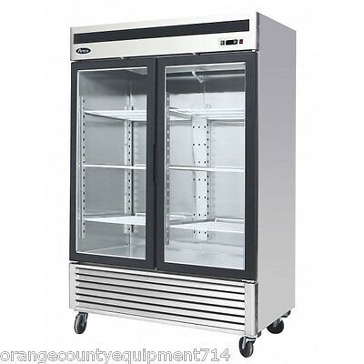 New 2 Glass Door Reach In Freezer Atosa Mcf8703 2234 Commercial Restaurant Nsf
