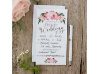 Pack of 10 beautiful Wedding Invitations - BRAND NEW