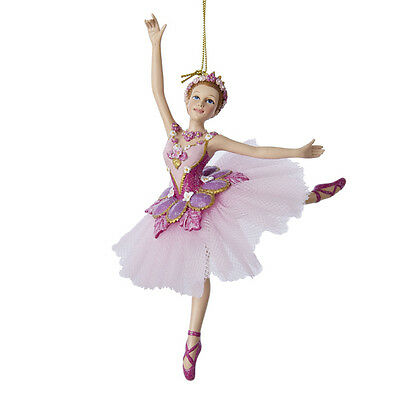 KURT S. ADLER SUGAR PLUM FAIRY BALLERINA NUTCRACKER BALLET CHRISTMAS ORNAMENT - Nutcracker Ballet Ornaments