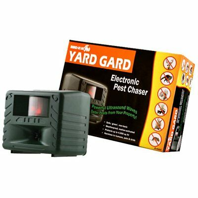 Bird-X YG Yard Guard Electronic Pest Chaser, Coverage Up To 4000 Sq. Ft.